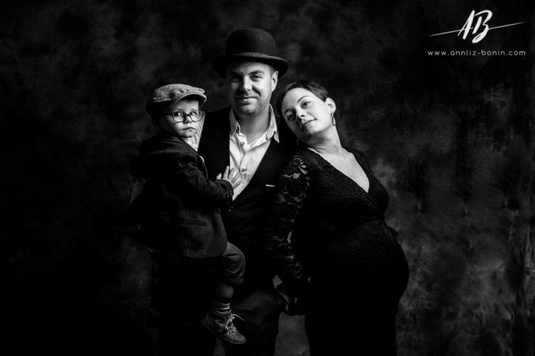 Esprit Chaplin – séance photo grossesse créative à Caen