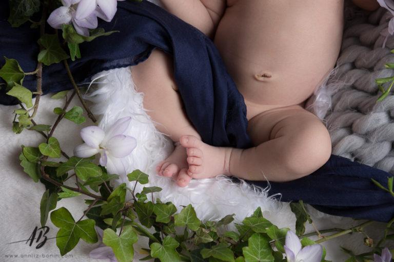 La séance naissance d'Ali – photo de naissance en studio à Caen