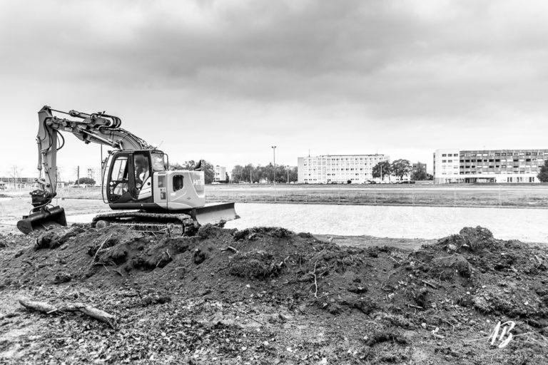 Reportage pour la photothèque des GRETA : photos de chantier à Caen