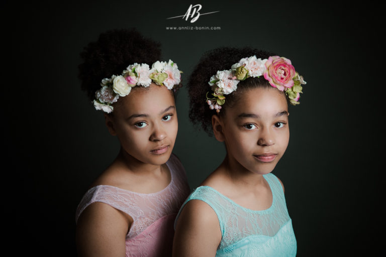 Léandre et ses soeurs – Photos d'enfant en studio à Caen
