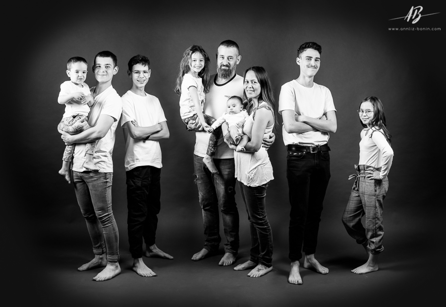 Big family, big love ! – photo de famille en studio à Caen