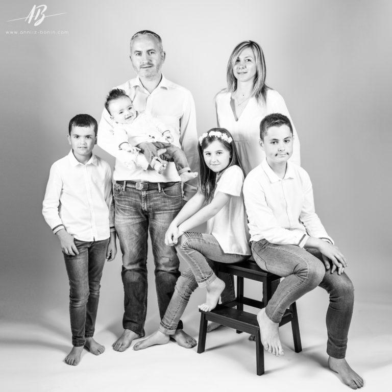 En famille – Portrait de famille en studio