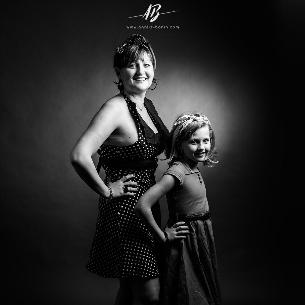 Pin-up mère et fille – photos pin-up en Normandie