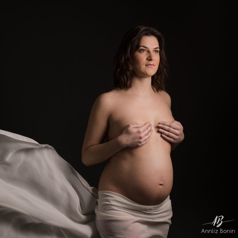 Luc et Mélanie, photo de grossesse en studio