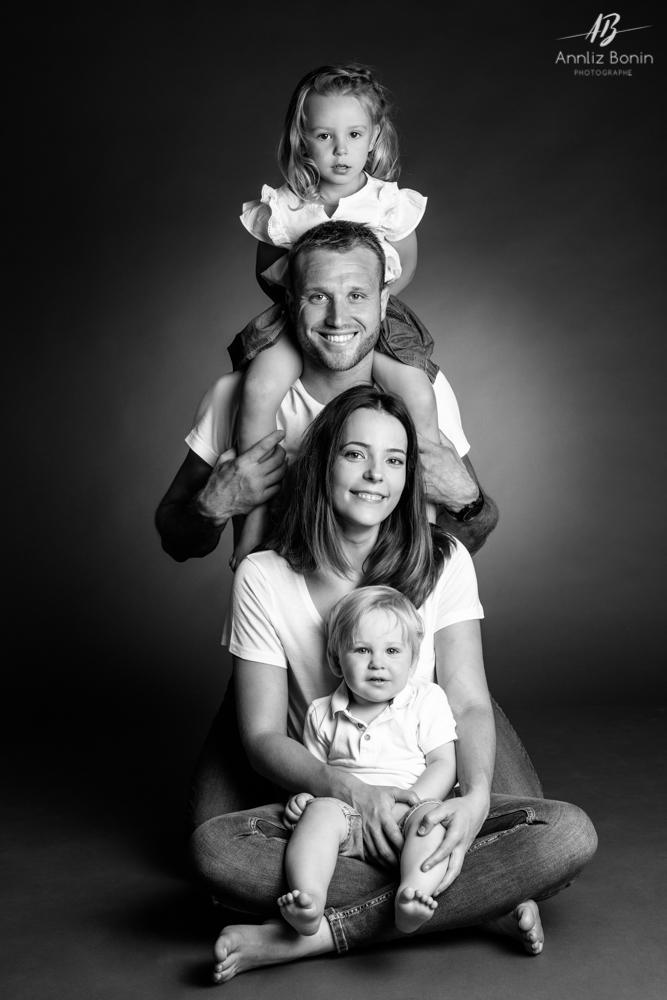 Séance portrait en famille au studio