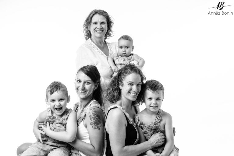 Séance photo en famille au studio