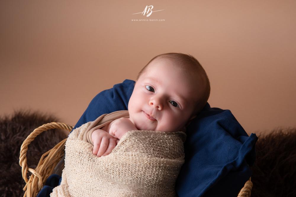 Photos de naissance avec Maxence et sa famille