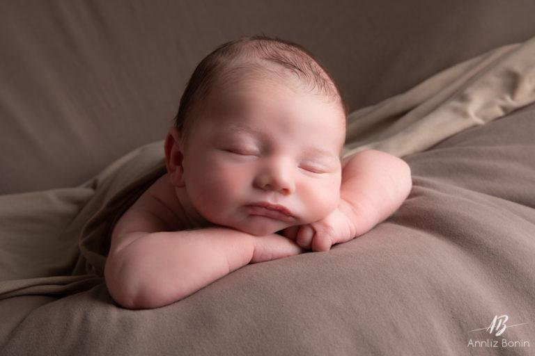 Photos de naissance avec loulou Mattéo